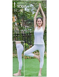 Yoga Pants Bottoms Antistatic / Limits Bacteria / Sweat-wicking / Soft Stretchy Sports Wear White / Black Women's Iyoga Yoga