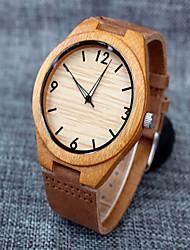 Мужской Наручные часы Кварцевый Секундомер Кожа Группа Коричневый / Хаки бренд-