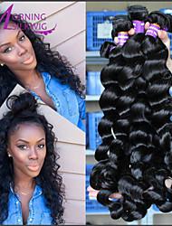 7A Brazilian Virgin Hair 4Pcs Brazilian Loose Wave Queen Hair Products Brazilian Human Hair Weave Bundles Hair