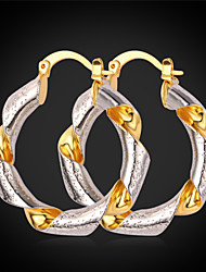 Vogue Gold Earrings New Fashion Jewelry Trendy Platinum / 18K Real Gold Plated For Women High Quality