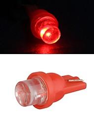 10 x T10 LED Autoseite Glühbirne Lampe DC 12V 0,35 W (weiß / rot)