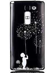 Pour Coque LG Motif Coque Coque Arrière Coque Pissenlit Flexible PUT pour LG LG Leon / LG C40 H340N LG Spirit/LG C70 H422 LG Magna H502