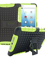 TPU + PC híbrido armadura de borracha resistente ficar casos de capa dura para iPad mini 3/2/1