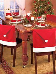 6pcs 2015 nuova moda sedia cappello rosso di Babbo Natale cover posteriore casa tavola decorazione festa di Natale per natale