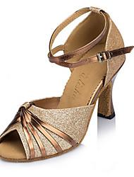 Женская обувь - Пайетки - Доступны на заказ (Лиловый / Золотой) - Латино