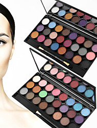 24 Colors Natural Shimmer Eyeshadow Palette Matte Make-up Set with Eye Shadow Brush(Assorted Color)