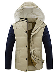 Men's Hoodie Coats & Jackets Plus Size, Cotton Long Sleeve Casual / Work Fashion Winter / Fall Wshgyy