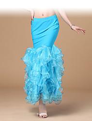 Bauchtanz-Unten(Fuchsie / Hellblau / Rot / Weiß / Gelb,Chiffon / Polyester,Bauchtanz) - fürDamen Sexy Kostüme aus aller Welt Rock Niedrig