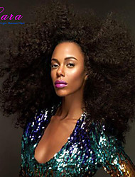 Afro Kinky Curly Brazilian Human Hair  Wigs Brazilian Kinky Curly Glueless Full Lace Wigs For Black Women Density 120%