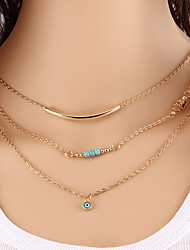 Wholesale Women Necklace European Style Turkey Evil Eye Layered Chain Necklace