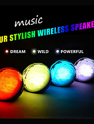 Brand New Color Ball Bluetooth Speaker LED Light Magic Crystal Speaker With Remote Control Wireless Audio Player