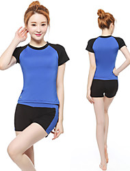 Running Bottoms / Clothing Sets/Suits / Shorts Women's Short Sleeve Breathable / Quick Dry / Compression / Lightweight Materials Terylene