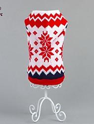 Gatos / Cães Súeters / Camisola com Capuz Vermelho Roupas para Cães Inverno Floral / Botânico Natal / Ano Novo
