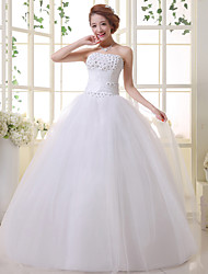 Ball Gown Wedding Dress - White Floor-length Sweetheart Lace / Organza