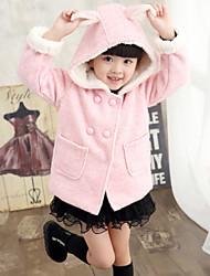 Девичий Куртка / пальто , Розовый , Смесь шерсти , Зима