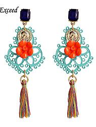 Boucle Forme de Fleur Boucles d'oreille goutte Bijoux 2pcs Mariage / Soirée / Quotidien / DécontractéAlliage / Acrylique / Résine /