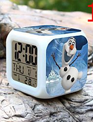 High Quality Creative Fashion Unique Lovely Colorful Small Alarm Clock LED Electronic Gifts / Cartoon Alarm Clock