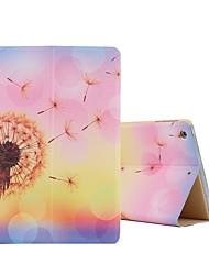 Ultra Slim Pu Leather Cute Pattern Flip with Auto Wake / Sleep Function Smart Case Cover for iPad Mini 4 (Dandelion)