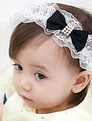 Kid's Pearl Bowknot Elastic Headband