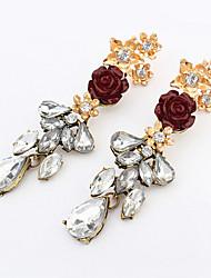 European Style Fashion Wild Flowers Vintage Drop Earrings