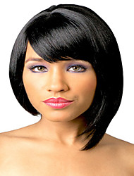 Short Silky Straight Synthetic Wigs Extension Natural Black Bob Wigs