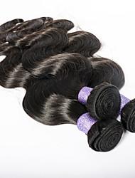 navidad venta 3pcs / lot 8 pulgadas color natural onda del cuerpo virginal que teje la belleza del pelo brasileño -30inch puede ser teñida