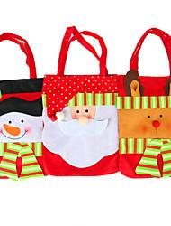 Cadeau de Noël portable sacs de fournitures parti arts décoratifs (style aléatoire)