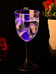 8.2*19CM Christmas Colorful Flash Light Glass Induction Switch Control Plastic Cup Light LED Lamp