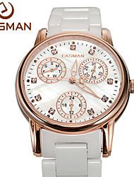 EASMAN® Women Ceramic Watch Ceramic Table White Watch Quartz Fashion Casual Ladies Ceramic Watches Women Wristwatches Cool Watches Unique Watches
