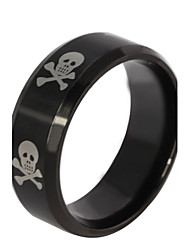 Z&X® Fashion Personality CrossBones Titanium Steel Ring Band Rings Party / Daily / Casual 1pc