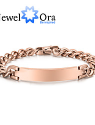 2015 New Fashion Noble Titanium Steel With 18k Rose Gold Plated Bracelet For Woman & Lady