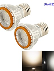 YouOKLight® 2PCS E27 7W AC85-265V 400lm 6500K COB LED White Spotlight (Higher cooling efficiency & durable service life)