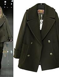 Повседневный - ЖЕНЩИНЫ - Пальто и жакеты ( Хлопок V-образный - Длинный рукав