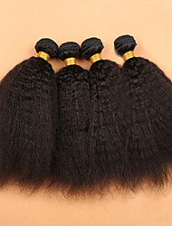 Slove Hair Products Mongolian Kinky Straight Virgin Hair 100% Unprocessed Human Hair Extension Good Quality Tangle Free