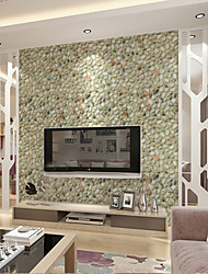 Home Decor Art Pebbles Solid Contemporary Wallpaper Wall Covering PVC Wall Paper 10*0.45 M