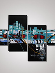 4 Panels Framed Contemporary Art Abstract Paintings Canvas for  Wall Decorations Ready to Hang