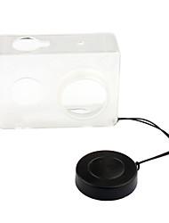 pannovo caja de plástico + tapa del objetivo para Xiaomi yi transparente