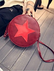 Women PU Sling Bag Shoulder Bag - Brown / Red / Black