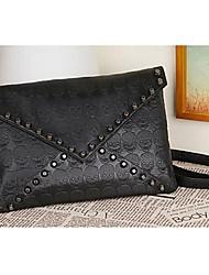 Women PU Sling Bag Shoulder Bag - Black