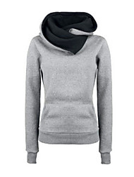 Women's Fleece Inside Long Sleeve Funnel Neck Hoodie Sweatshirt