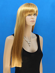 Europe And The United States New Golden Straight Hair Qi Liu Haixiu Face Wig