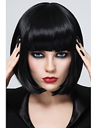 High Quality Black Synthetic Fiber BOB Style Women's synthetic Hair wig