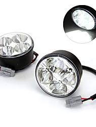 2 * 4W haute puissance 4 blanc LED voiture diurne DRL jour courir lampe de feu de brouillard