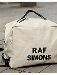 Unisex Canvas Shoulder Bag / Tote White / Black