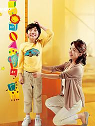 Cartoon Monkey Lion Height Measurement Wall Sticker Kindergarten Children's Room   Wall Decoration