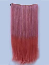 resistencia a altas temperaturas en dos tonos de 26 pulgadas de largo venta caliente recta extensión peluca 5 clip.