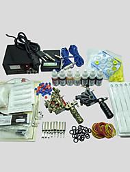 2 Maschinen basekey Tattoo-Set 217-Maschine mit Netzteil Griffe Tassen Nadeln (Tinte nicht im Lieferumfang enthalten)