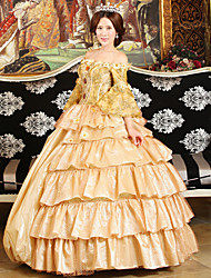 Steampunk®Georgian Pink / Golden Victorian Gown Party Dress Marie Antoinette Wholesalelolita Rococo Evening Dresses
