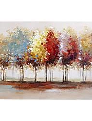 Бесплатная доставка абстрактные красочные деревья на холсте