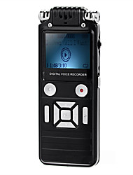 Professional Noise Cancelling Mini VOR Voice Recorder w/ MP3 Player - Black (8GB) +European regulatory power